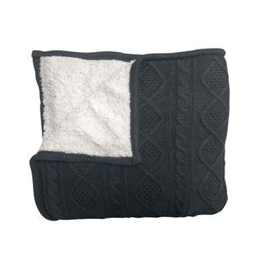 Alberta Knit Throw 125x150cm Charcoal