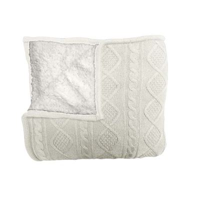 Alberta Knit Throw 125x150cm Ivory