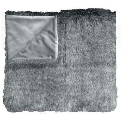 Faux Fur Throw 125x50cm Grey Wolf
