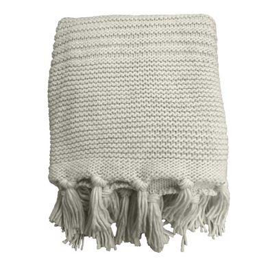 Chunky Knit Throw 125x150cm Ivory