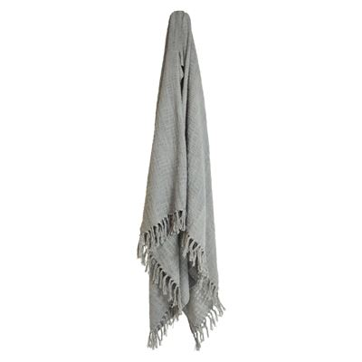 Throw Cotton Slub Light Grey 130x170cm