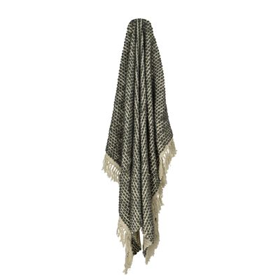 Throw Rug Textured Charcoal 130x170cm