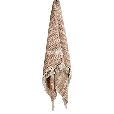 Throw Rug Cotton Stitch Pink 130x170cm