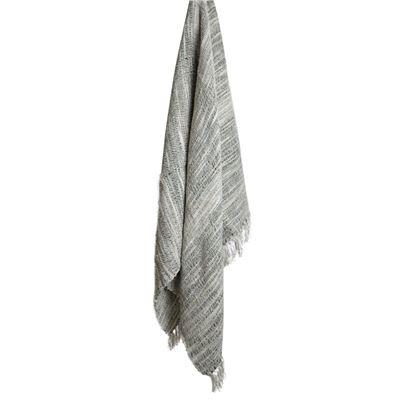 Throw Rug Cotton Stitch Grey 130x170cm