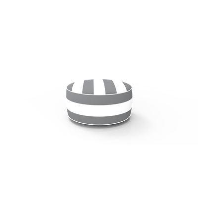 Inflatable Ottoman Grey Stripe