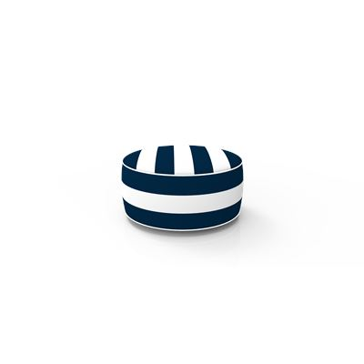 Inflatable Ottoman Navy Stripe