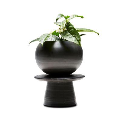 Totem 2 Pce Planter Black 19x24cm