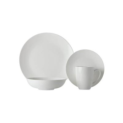 White Basics Fitzrovia Coupe Dinner Set 16 Pc Gb