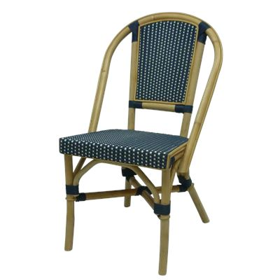 Bistro Rattan Chair Navy