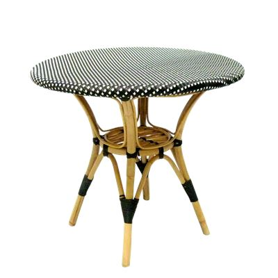 Bistro Rattan Table Black
