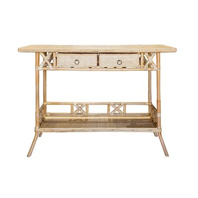 Luca Rattan Console Table Natural