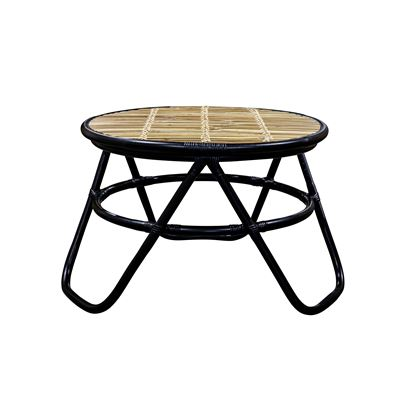 Bamboo Rattan Coffee Table Black