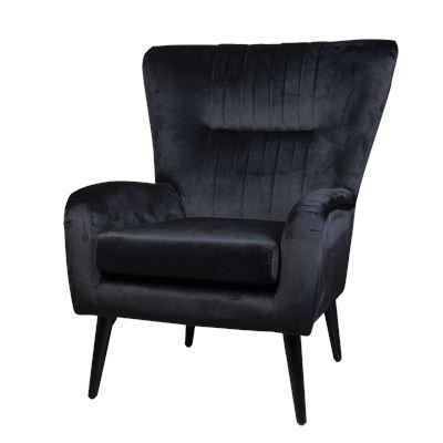 Zurich Armchair Black Velvet