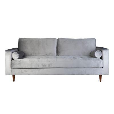 Lugano Sofa Silver Velvet