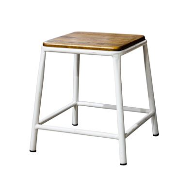 Tube Small Stool - White