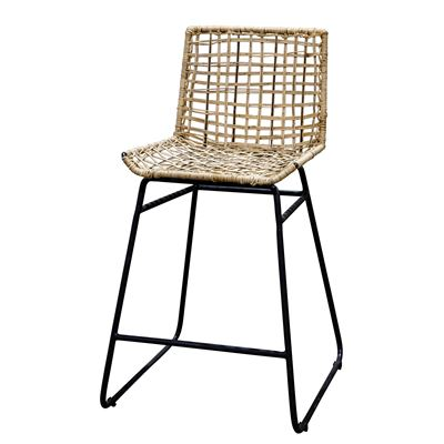 Marabella Bar Stool - Gunmetal