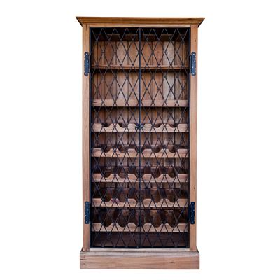 Sonoma Wine Cabinet- Raw Wood