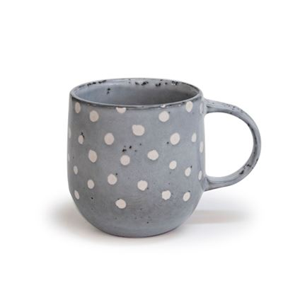 S&P NAOKO MUG POLKA GREY380ML