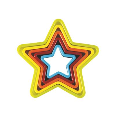 Star Cookie Cutters - 5 Piece Set