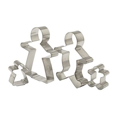 Gingerbread Family Cookie Cutters 4 Piece Set