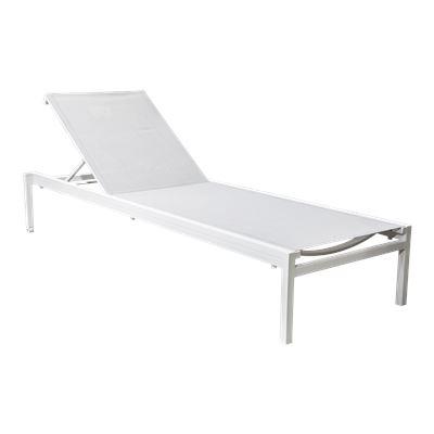 Corsica Sunlounger Grey/White