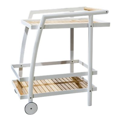 La Paz Drinks Trolley White