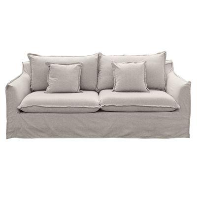 Avoca 3 Seater Sofa Taupe