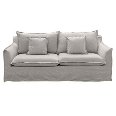Avoca 3 Seater Sofa Stone