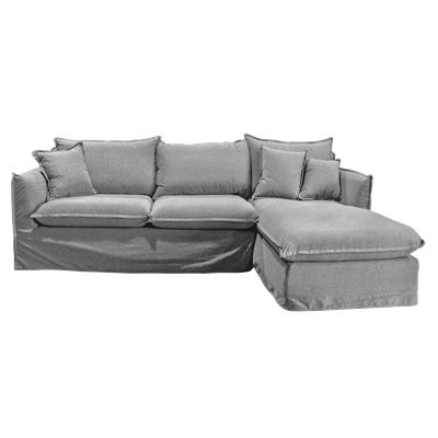 Avalon 3 Seater Sofa with Chaise Stone