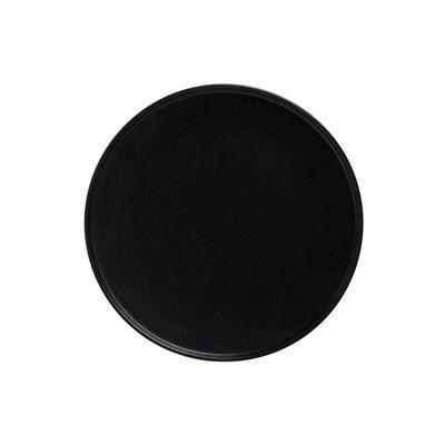 Caviar High Rim Plate 24.5Cm Blk