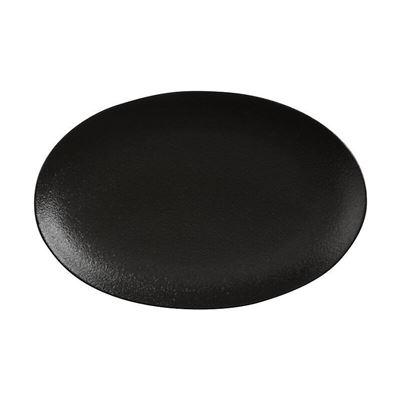 Caviar Oval Plate 25X16Cm Blk