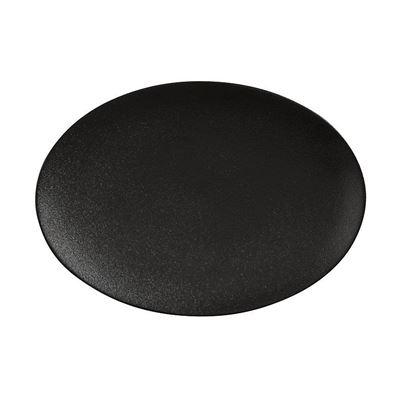 Caviar Oval Plate 30X22Cm Blk