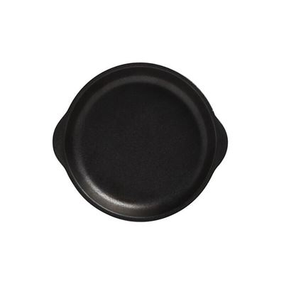 Caviar Plate W Handle 15.5X17Cm Blk