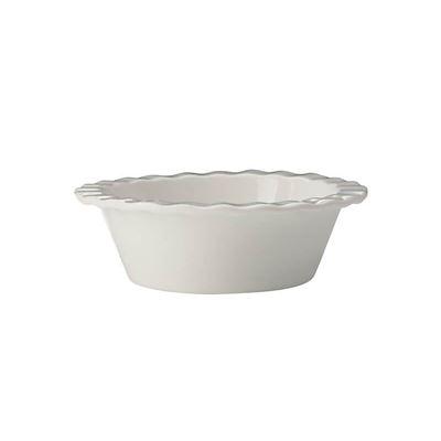 Epicu Fld Pie Dish Mini 12.5X4Cm Wht