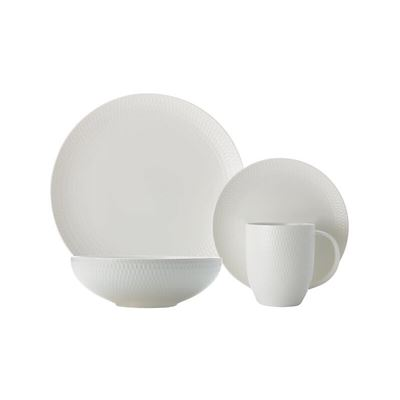White Basics Diamon Dinner Set 16Pc Gb
