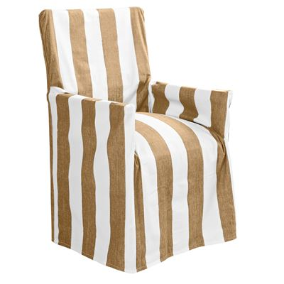 Stripe Director Chair Cover Taupe