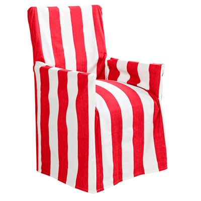 Stripe Director Chair Cover Red