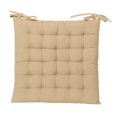 Solid Chair Pad 40x40cm Taupe