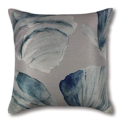 Cockle Silver/Blue Cushion 50cm