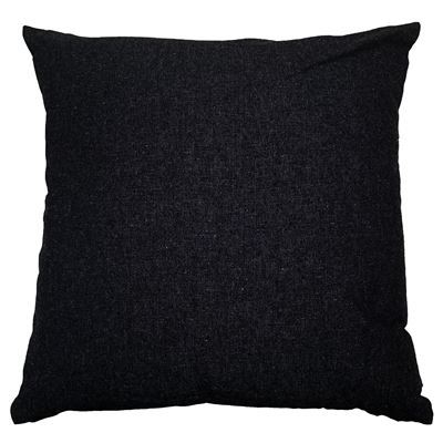 Solid Cushion 45x45cm Black
