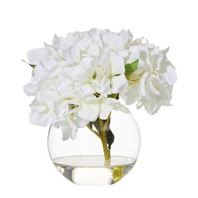 Hydrangea Sphere Vase 23cm White