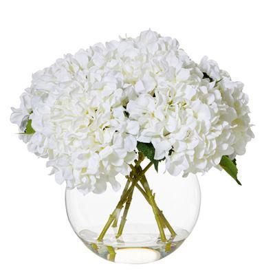 Hydrangea-Sphere Vase40cmWh-BOM