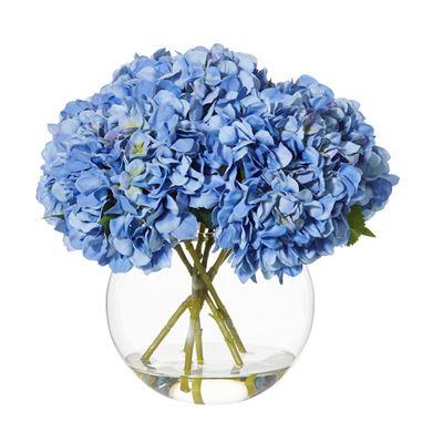 Hydrangea-Sphere Vase40cmBl-BOM