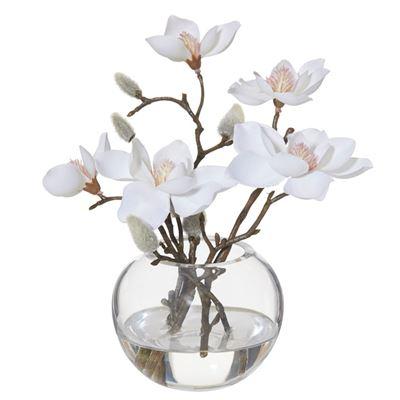 Magnolia Sphere Vase 21cm White