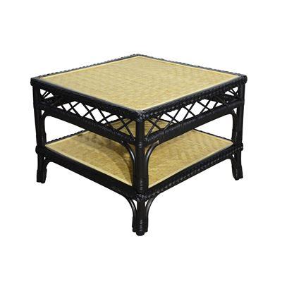 Rio Rattan Side Table Black
