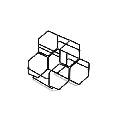 S&P Honeycomb Wine Rack Black 20.5X15.5X19Cm