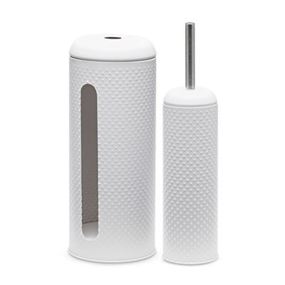 Spot Toilet Brush & Roll Holder S/2