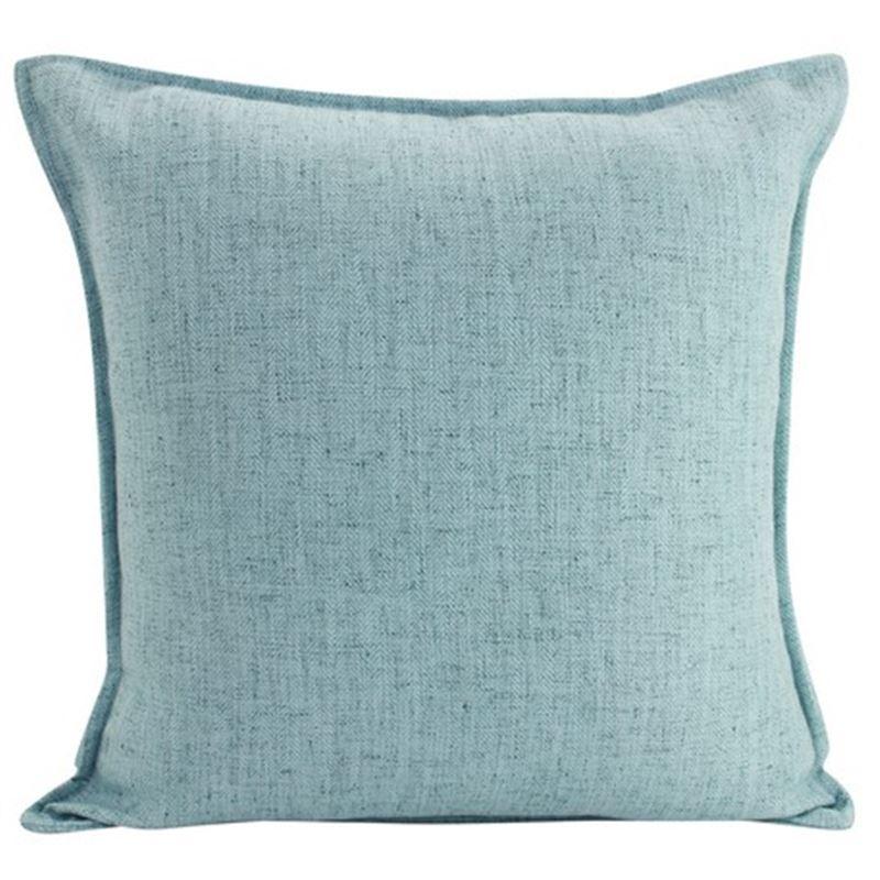Linen Light Blue Cushion 55cm