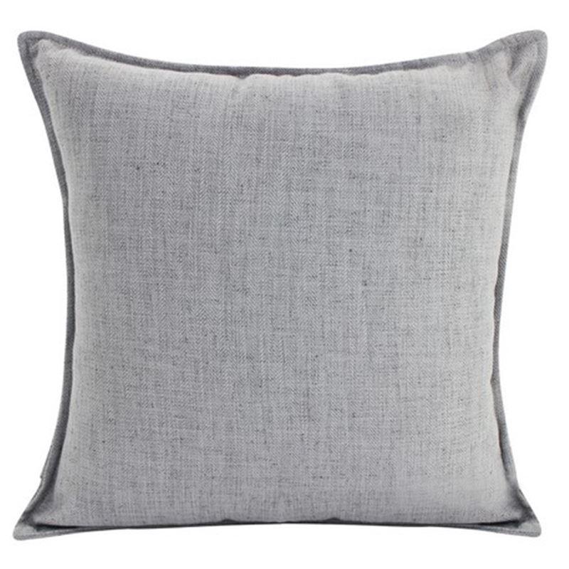 Linen Light Grey Cushion 45×45