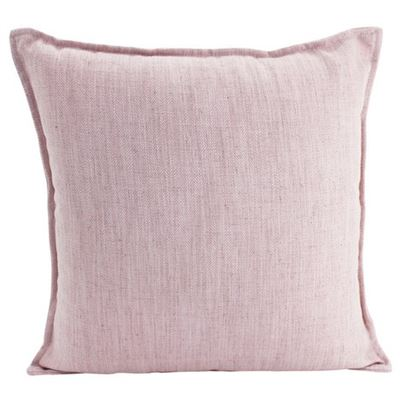 Linen Baby Pink Cushion 55x55